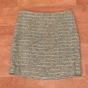 Ann Taylor Woven Metallic Mini Skirt